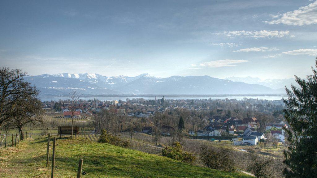 Blick vom Entenberg auf Lindau
